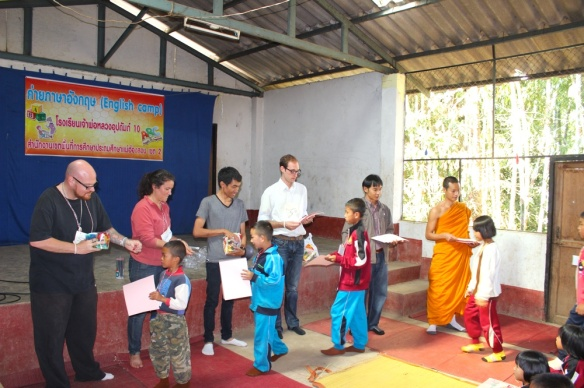 Handing out prizes and certificates