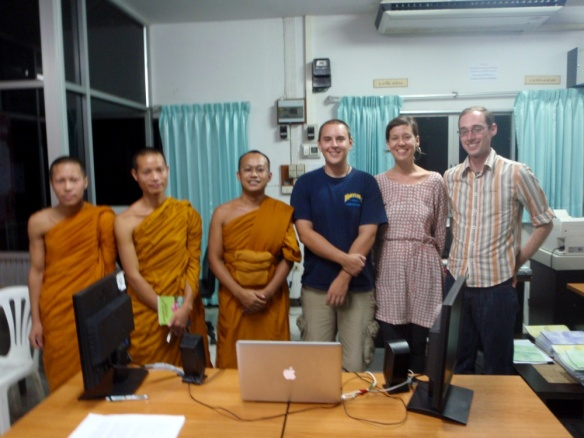 Sara pictured above after one of our very first monk chats