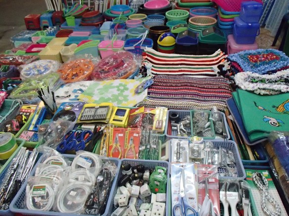 Home goods, hardware, toys, school supplies - everything and anything at the night markets