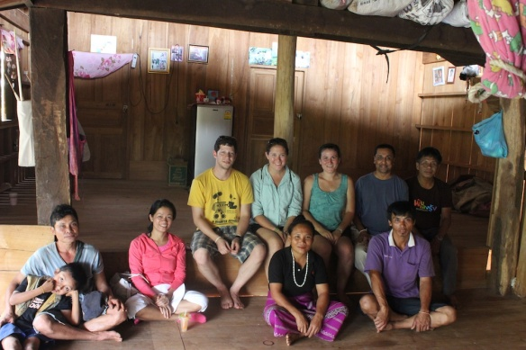 Me, volunteers, and the ATMA SEVA team in a neighboring Karen village