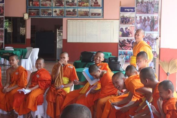 novices having fun at English camp