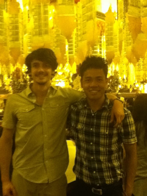Me with fellow on-site intern Antoine in Chiang Mai.