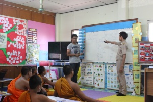 Teaching at Wat Doi Saket.