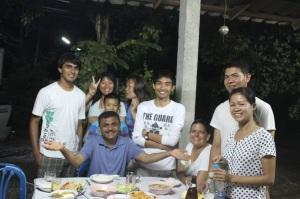 Rajeev and Raghav with the ATMA SEVA team for dinner!