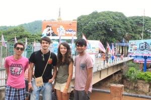At the Mae Sai border with Burma right behind us!