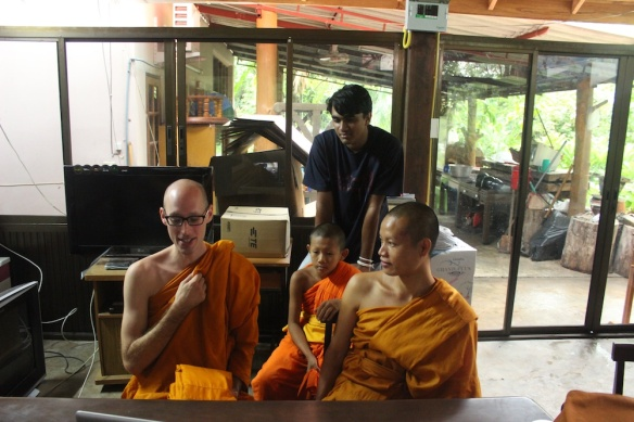 Me in Thailand during a monk chat I scheduled!