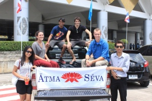 The ATMA SEVA team picking me up at the Chiang Mai airport!