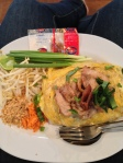Pad thai wrapped in egg