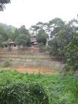 Border fence and Burmese barracks
