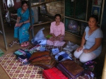 Refugee camp selling products to earn income
